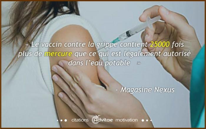 Vaccin Contre La Grippe 25000 Fois Le Mercure Légalement
